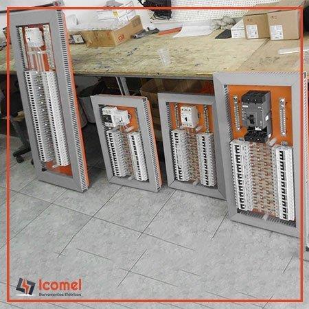 Barramentos de cobre para quadros elétricos